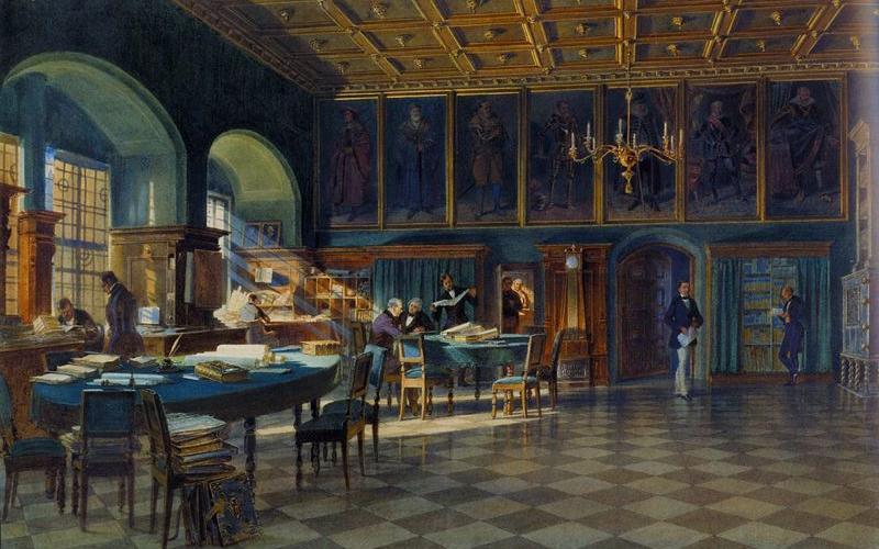 老市政厅会议室 |老市政厅 | 市政厅会议室 (一幅画) 1858 Carl Werner